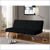 DHP Emily Faux Leather Splitback Convertible Futon in Black