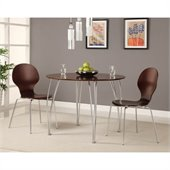 DHP Bentwood Round Dining Table in Espresso