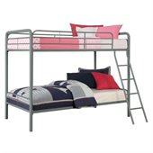 DHP Twin over Twin Bunk Bed in Silver