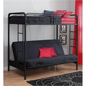 DHP Twin over Futon Bunk Bed in Black