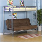 DHP Twin over Futon Bunk Bed in Silver