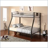 DHP Silver Screen Twin over Full Bunk Bed in Black and Silver