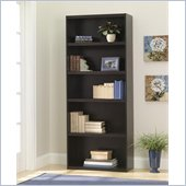 Ameriwood 5 Shelf Wood Bookcase in Dark Russet Cherry