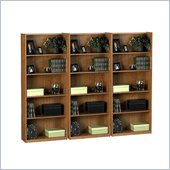 Ameriwood Industries 5 Shelf Wall Bookcase in Manor Oak
