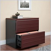 Ameriwood by Dorel Pursuit Lateral File Cabinet in Cherry and Gray