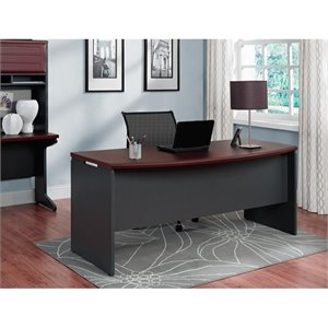 Altra Furniture Pursuit Executive Desk in Cherry and Gray