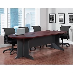 Altra Furniture Pursuit Large Conference Table in Cherry and Gray
