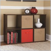 Ameriwood 6 Cube Storage in Resort Cherry