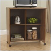 Ameriwood Utility Storage Cart in Bank Alder