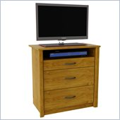 Ameriwood Media Chest in Bank Alder