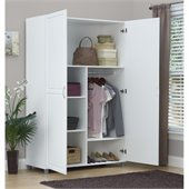 Ameriwood System Build Wardrobe in White Aquaseal