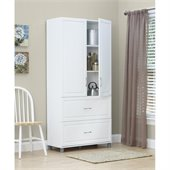 SystemBuild 36 2 Drawer 2 Door Cabinet in White Aquaseal