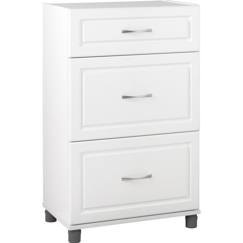 Ameriwood Home SystemBuild Kendall 24'' 3 Drawer Base Cabinet in White