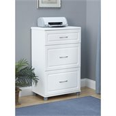 SystemBuild 3 Drawer Storage Cabinet in White Aquaseal