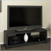 Ameriwood 60 Hollow Core TV Stand in Black Ebony Ash