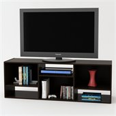 Ameriwood 60 Wide Bookcase TV Stand in Black Forrest