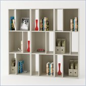 Ameriwood Wall Bookcase in White Stipple