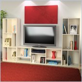 Ameriwood Entertainment Unit in White Stipple