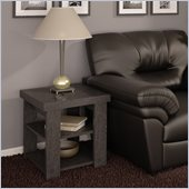 Ameriwood Hollow Core End Table in Black Ebony Ash