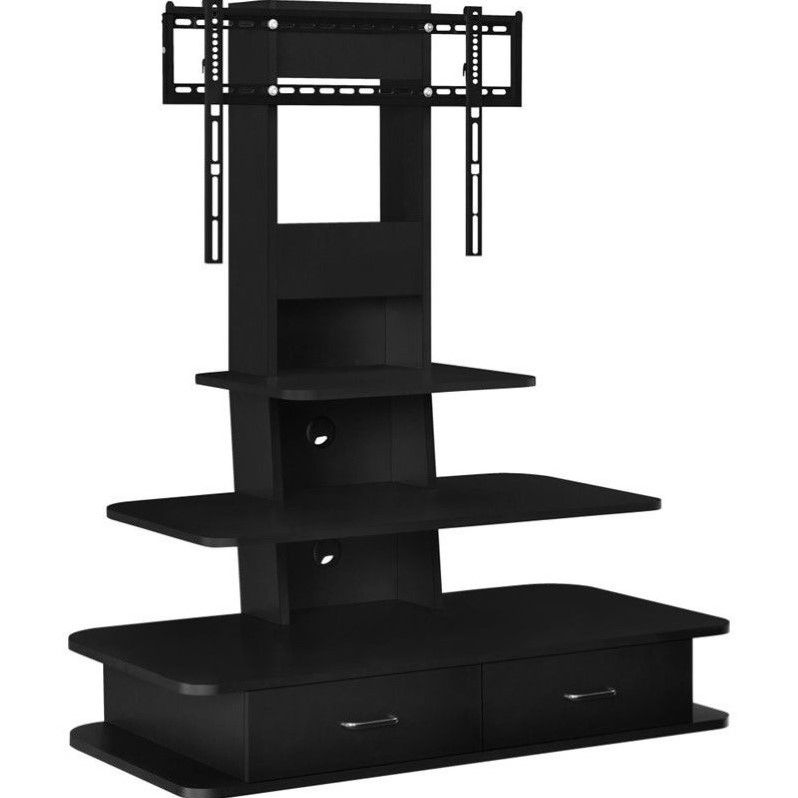 Altra Galaxy 42 TV Stand with Mound and Drawers in Black