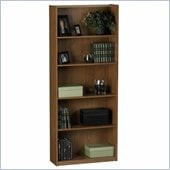 Ameriwood Industries 68H 5 Shelf Wood Bookcase in Manor Oak