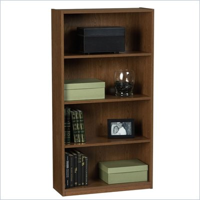 Ameriwood 4 Shelf Standard Wood Bookcase in Manor Oak