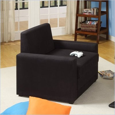 DHP Single Sleeper Chair in Black