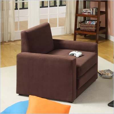 DHP Single Sleeper Chair in Chocolate Brown