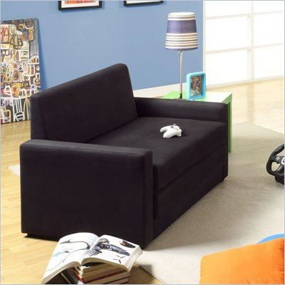 DHP Double Sleeper Chair in Black