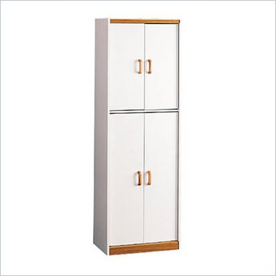 Ameriwood 4506 Oak Trim 4 Door Storage Pantry
