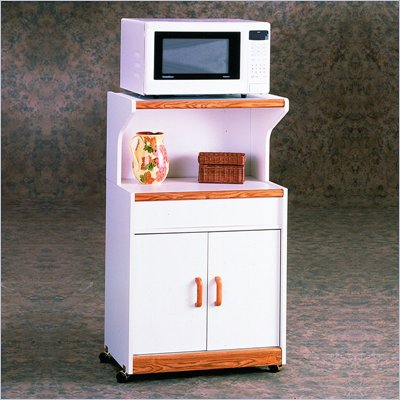 Ameriwood Microwave Cart in White Oak