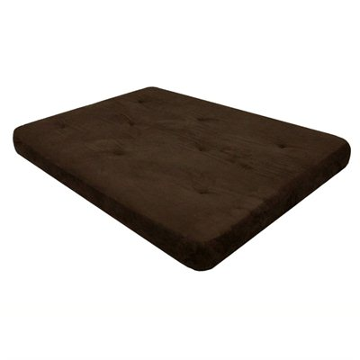 "DHP 8"" Independently-Encased Coil Premium Futon Mattress in Chocolate Brown"