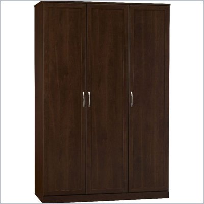 Ameriwood 3 Door Wardrobe in Resort Cherry Finish