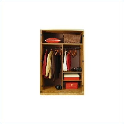 Ameriwood 48 Inch Wardrobe Armoire in City Oak Finish