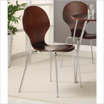 DHP Bentwood Round Side Chair in Espresso (Set of 2)