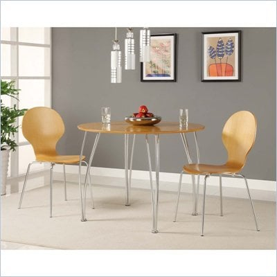 DHP Bentwood Round Dining Table in Natural