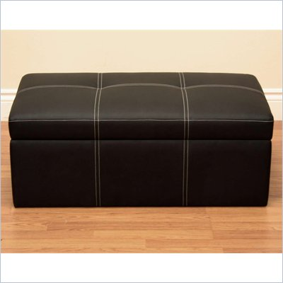 DHP Delaney Large Rectangular Ottoman in Black