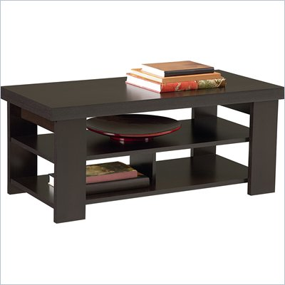 Ameriwood Hollow Core Coffee Table in Black Forest Finish