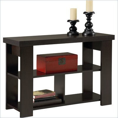 Ameriwood Hollow Core Sofa Table in Black Forest Finish