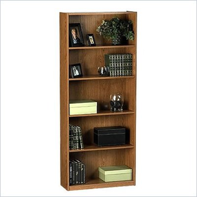 Ameriwood Industries 68&quot;H 5 Shelf Wood Bookcase in Manor Oak