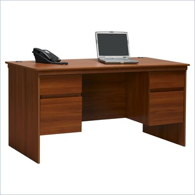 Ameriwood Industries Wood Computer Desk in Cherry