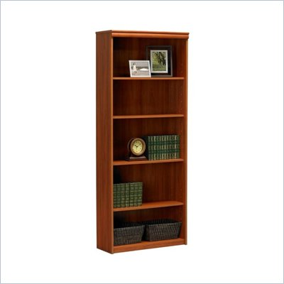 Ameriwood Industries 5 Shelf Standard Wood Bookcase in Expert Plum