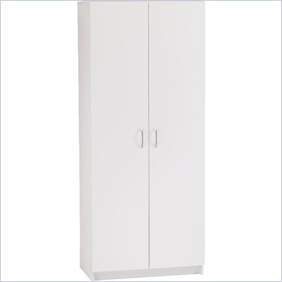 Ameriwood 72 Inch Pantry in White Stipple Finish