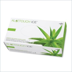 Medline Aloetouch Ice Examination Gloves