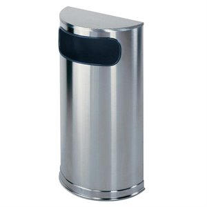 United Receptacle Half Round Waste Receptacle
