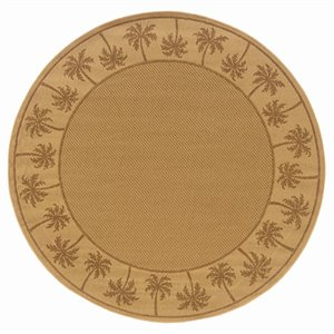 "Oriental Weavers Lanai 7'10"" Round Machine Woven Rug in B..."