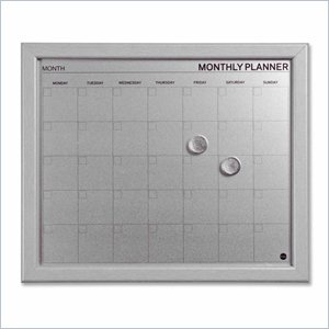 Bi-silque Dry-Erase Monthly Calendar Board
