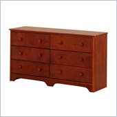 Canwood 6 Drawer Double Dresser in Cherry