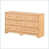 Canwood 6 Drawer Double Dresser in Natural