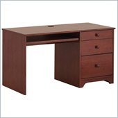 Canwood Single Pedestal Desk in Cherry